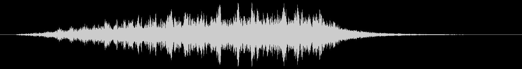 魔法陣をイメージした効果音の未再生の波形