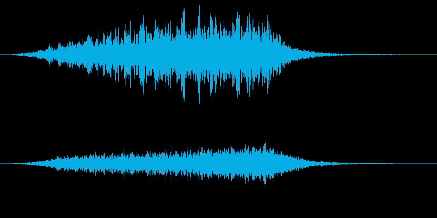 魔法陣をイメージした効果音の再生済みの波形