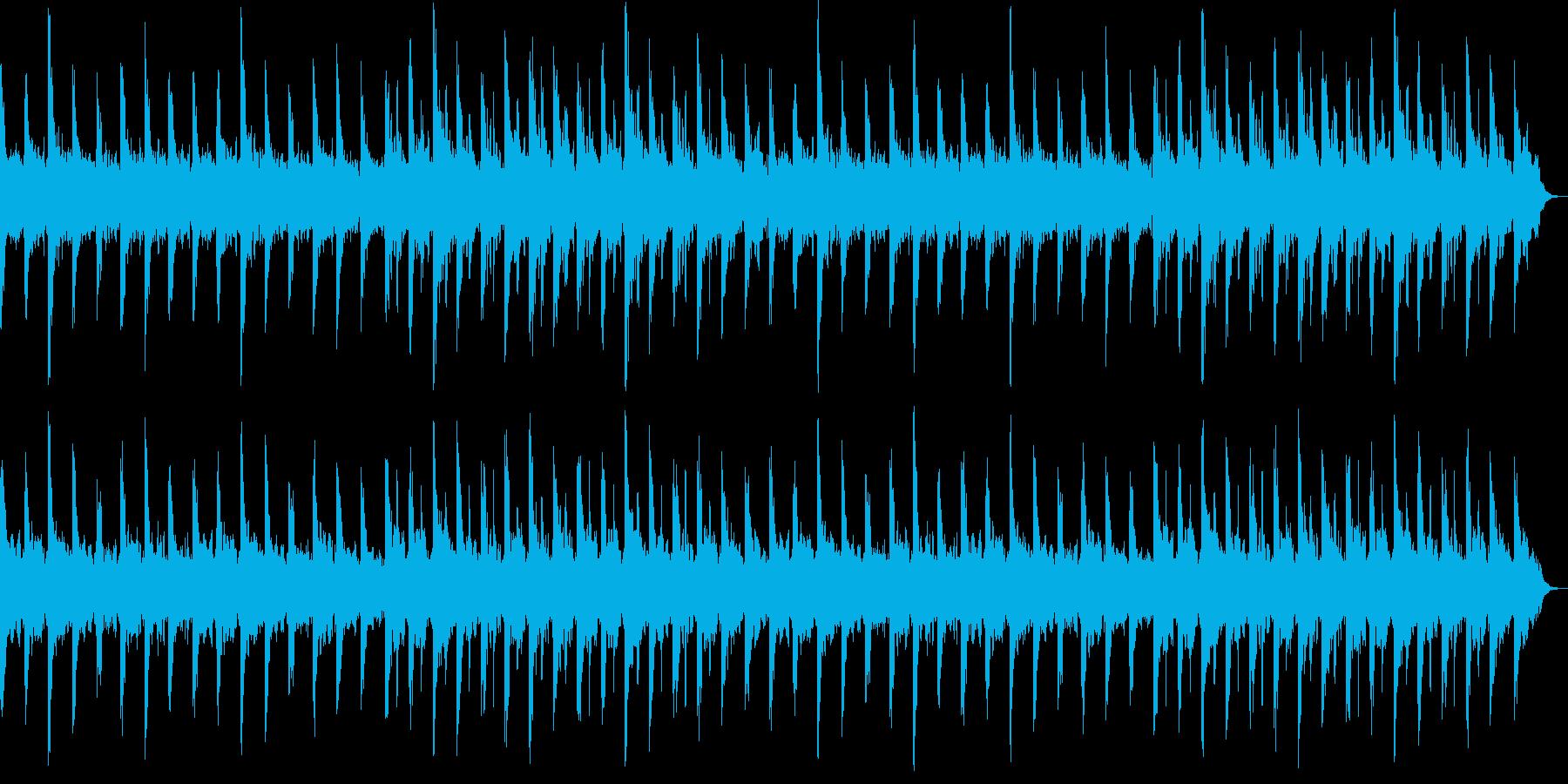 睡眠用の静かで落ち着く環境音楽の再生済みの波形