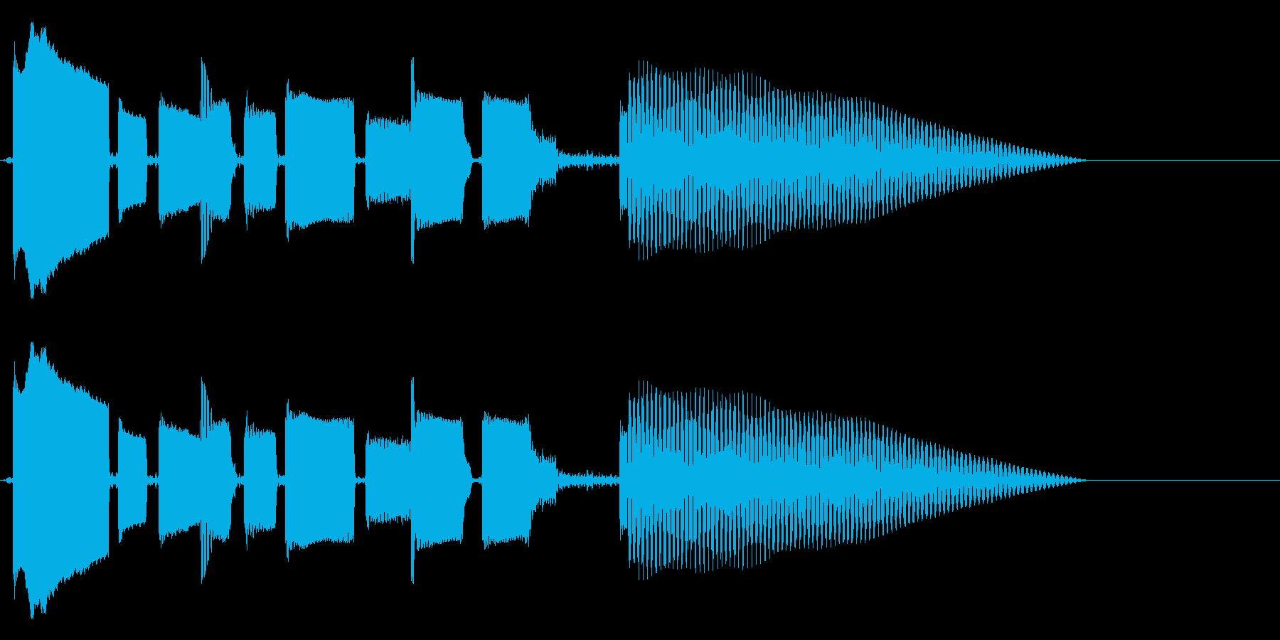 ほのぼのまったりなベースのみのジングルの再生済みの波形