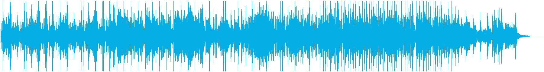 琴、尺八、三味線と祭囃子の和風BGMの再生済みの波形