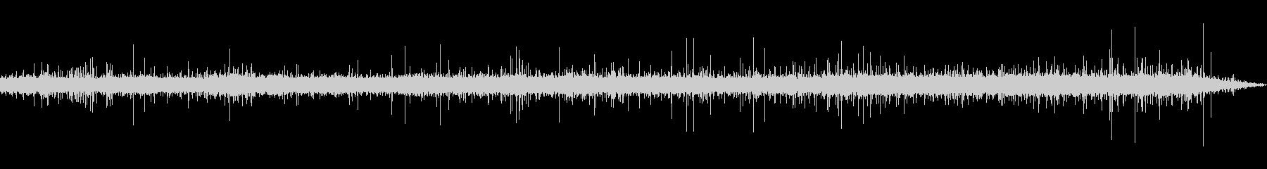 ASMR フライパンの油で焼く時の音の未再生の波形