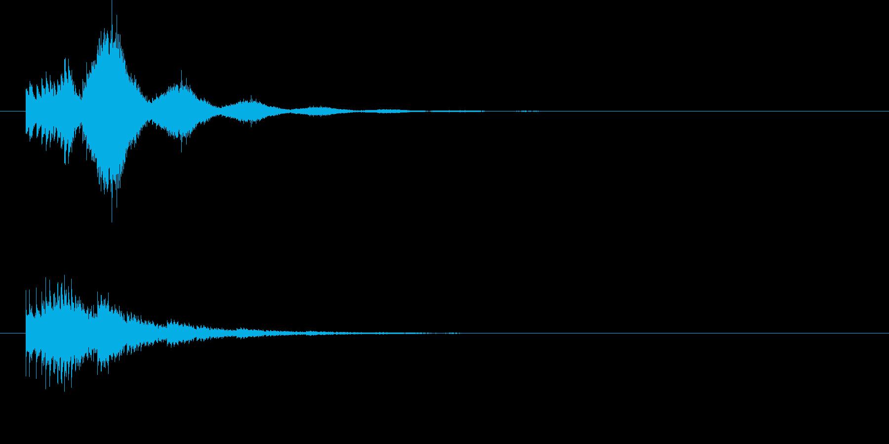 通知アラートの再生済みの波形