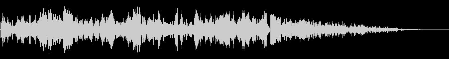 カウントダウンスイープアクセントの未再生の波形