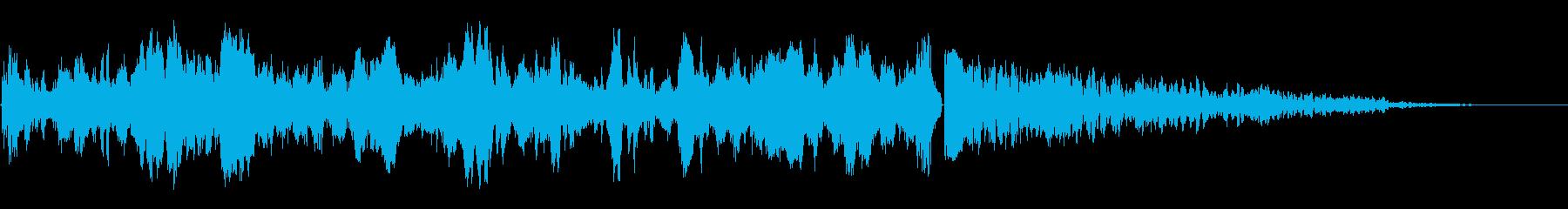 カウントダウンスイープアクセントの再生済みの波形