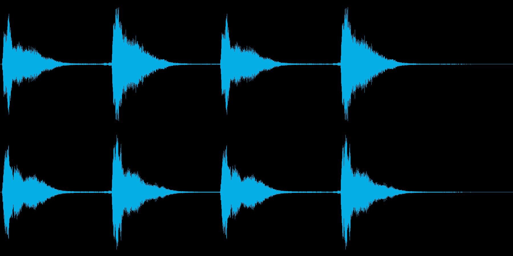 レプトン教会の鐘:4つのリングの再生済みの波形