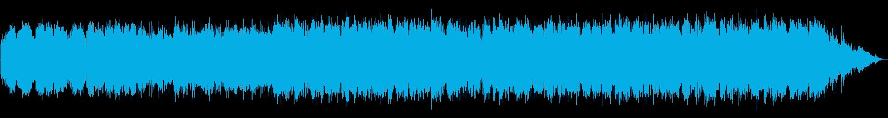 哀愁のある笛のエスニック系BGMの再生済みの波形