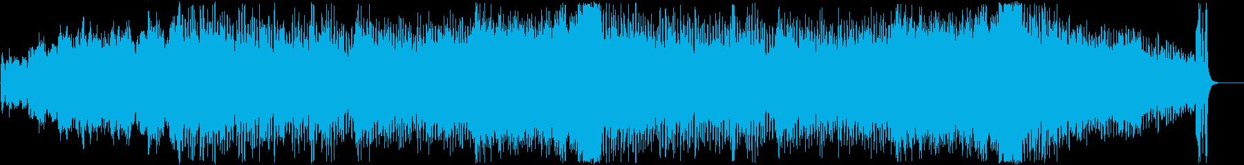 結婚式ビデオを想定したポップオーケストラの再生済みの波形