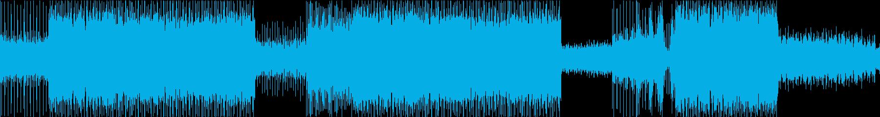 軽快、疾走感のあるポップロックの再生済みの波形