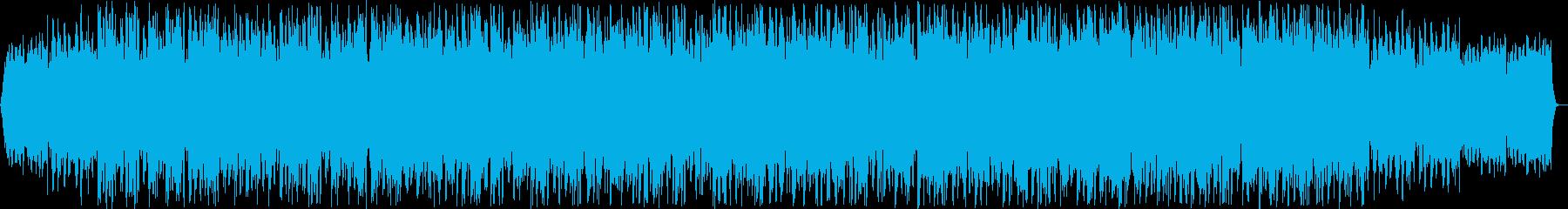 ピアノの躍動感を感じられる曲の再生済みの波形