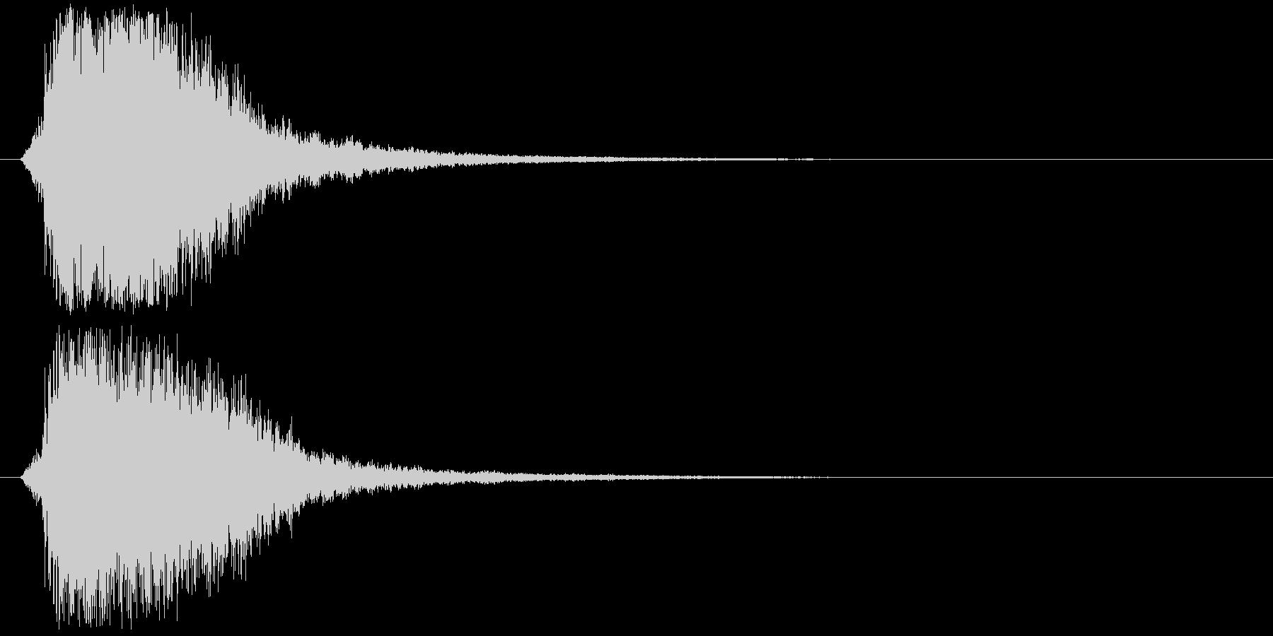 シャキーン!強烈なインパクト効果音3Cの未再生の波形