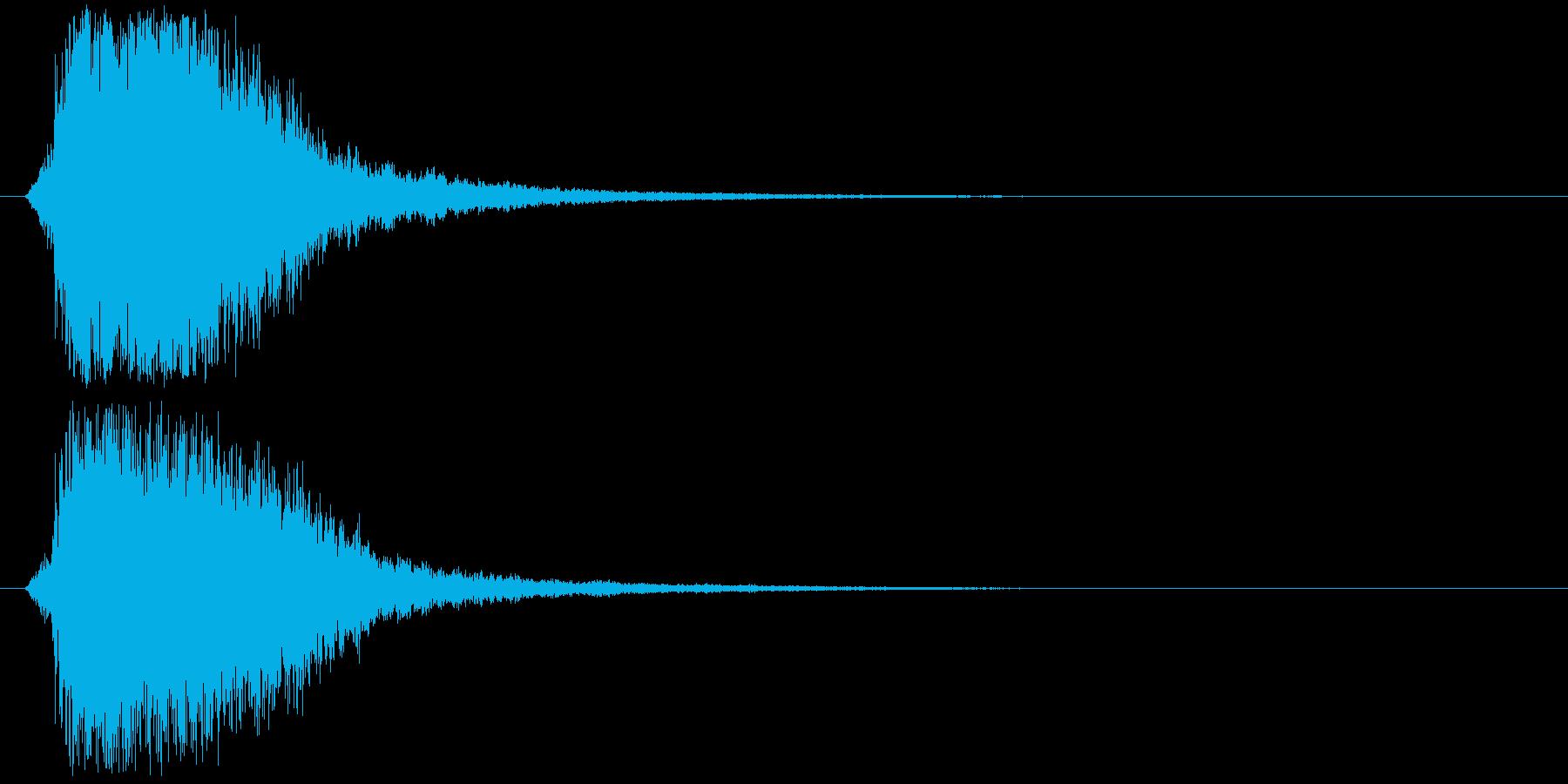 シャキーン!強烈なインパクト効果音3Cの再生済みの波形