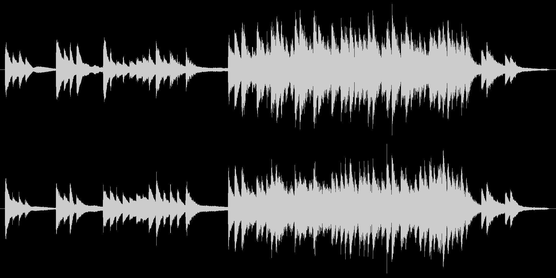 ジブリ、坂本龍一風生演奏ピアノの未再生の波形