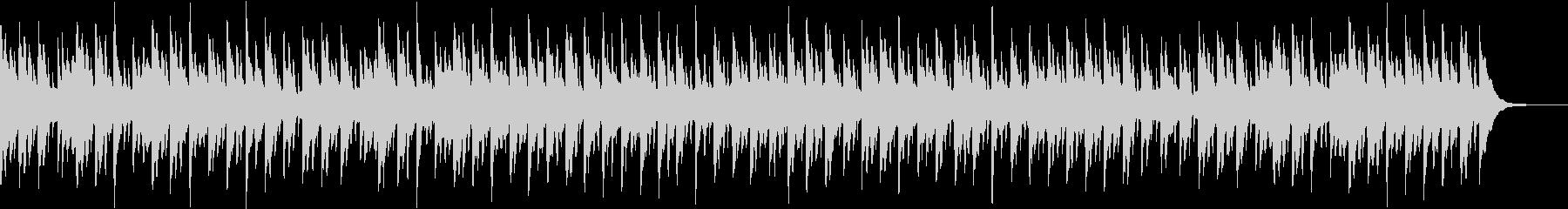 癒し系のオルゴール風BGMの未再生の波形