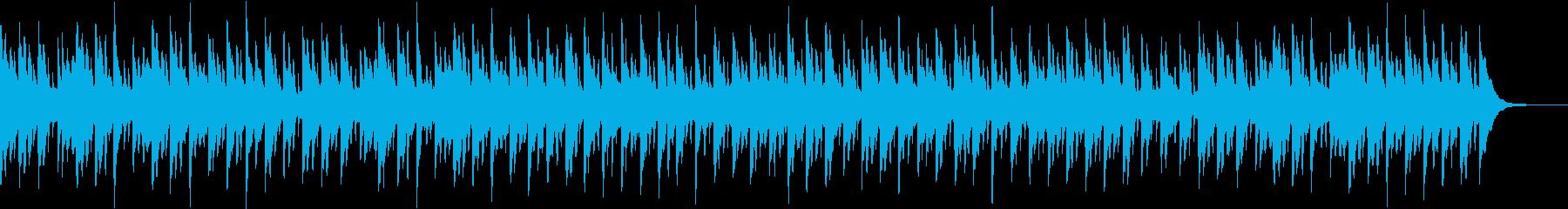 癒し系のオルゴール風BGMの再生済みの波形