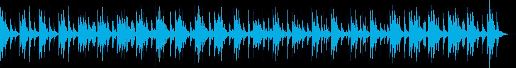 和風・じっとりと怖いホラー曲の再生済みの波形