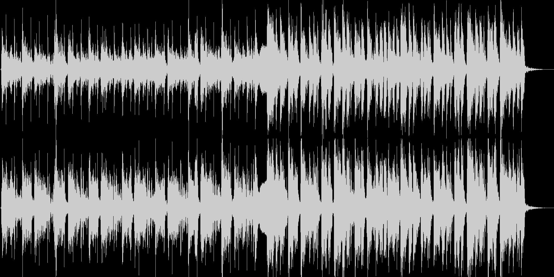 軽快なギターカッティングのオープニングの未再生の波形