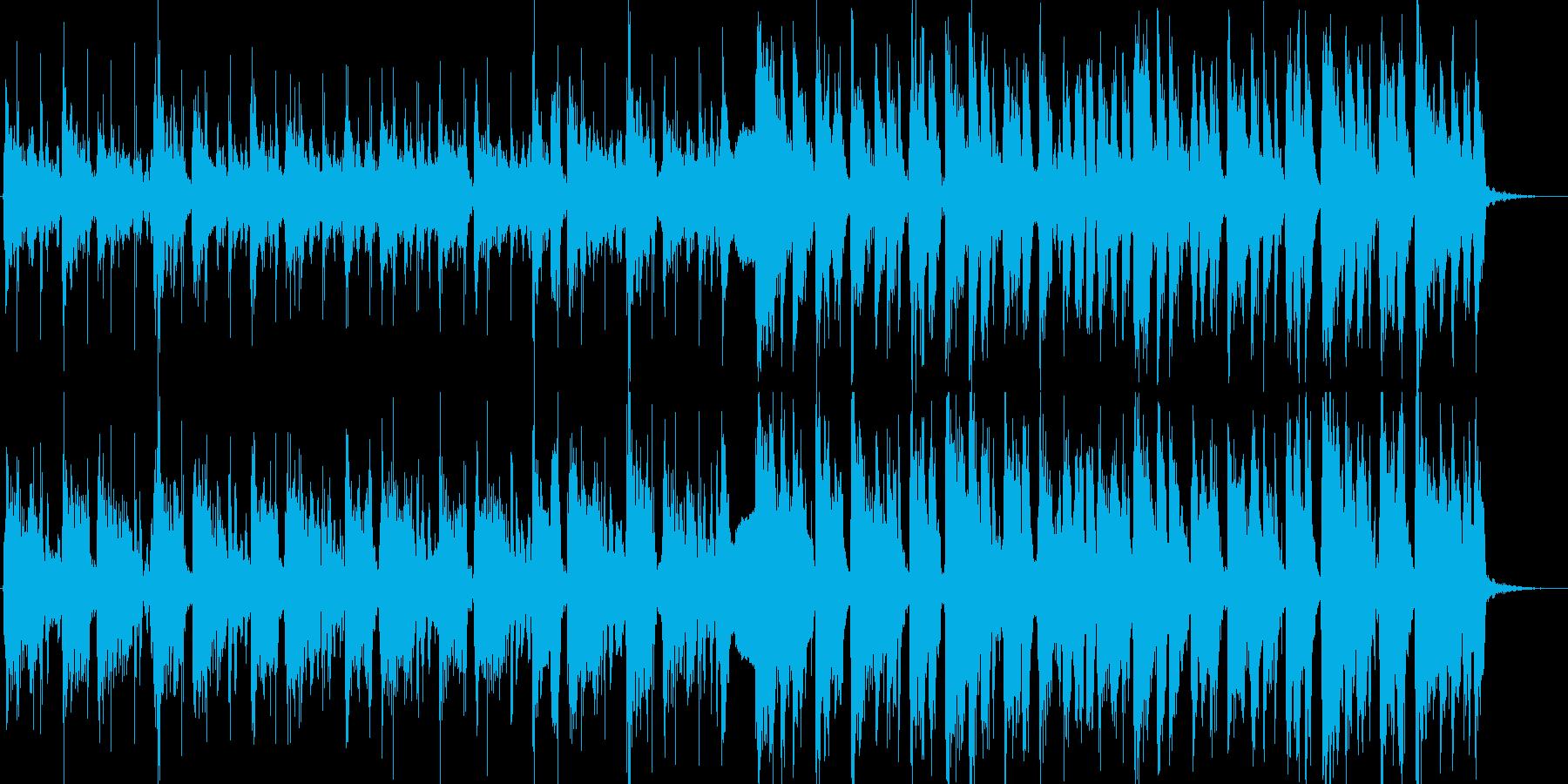 軽快なギターカッティングのオープニングの再生済みの波形