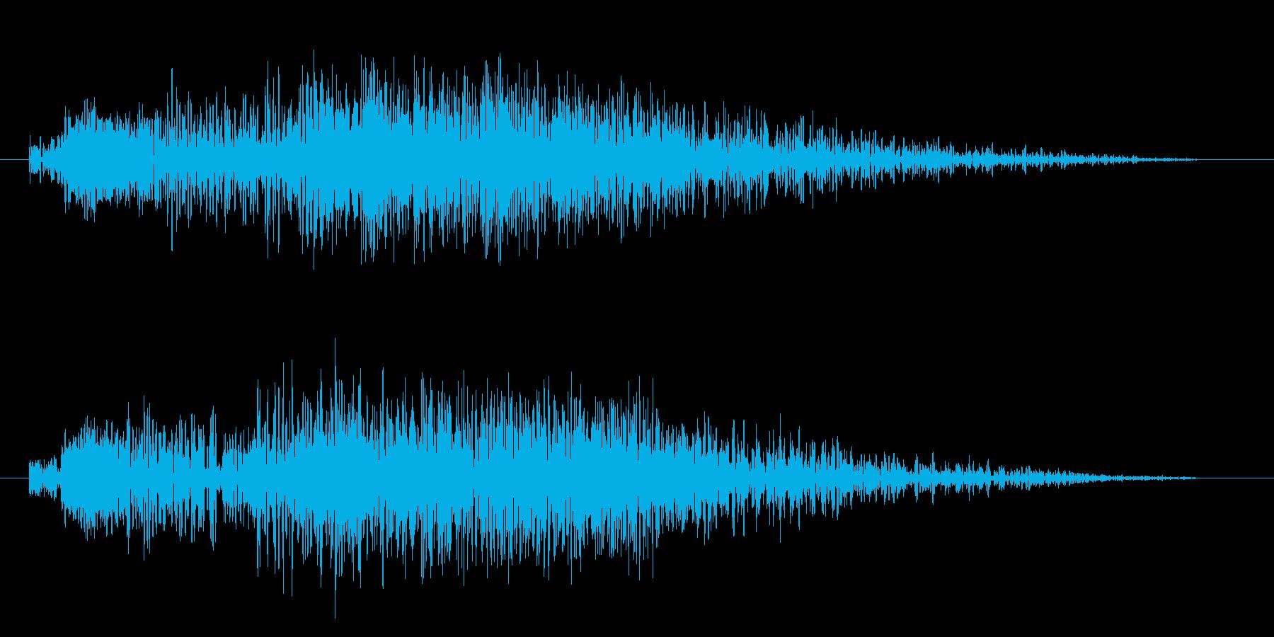 決定/ボタン/タッチ/クリック効果音03の再生済みの波形
