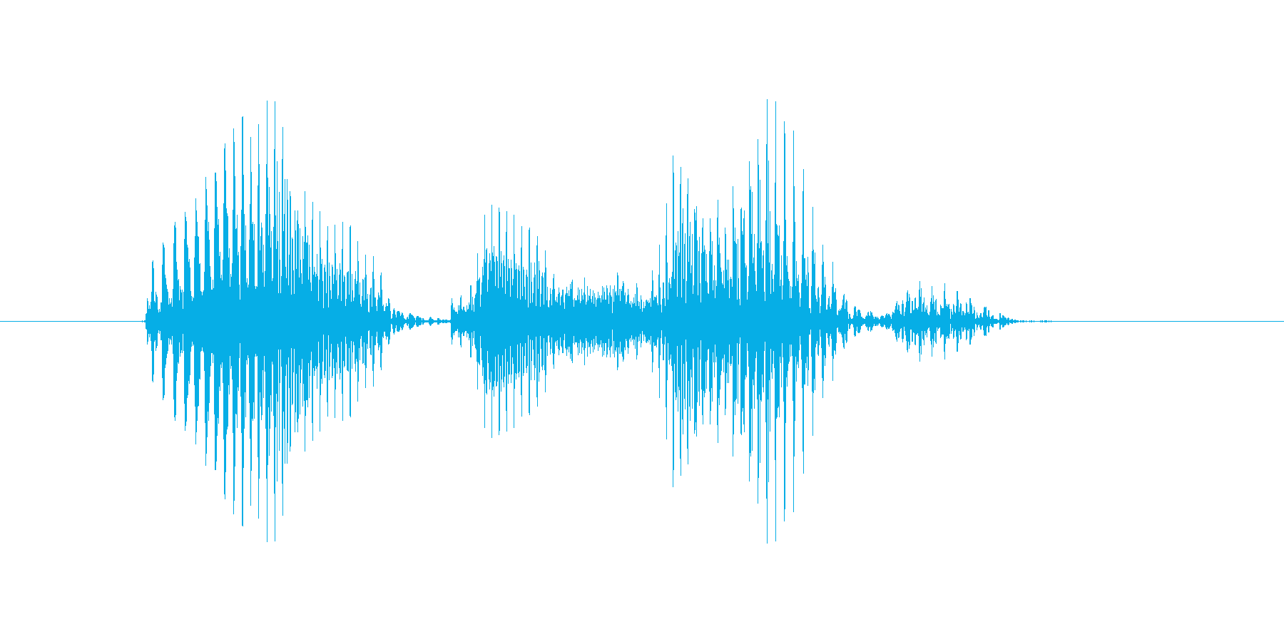 アウトサイドの再生済みの波形