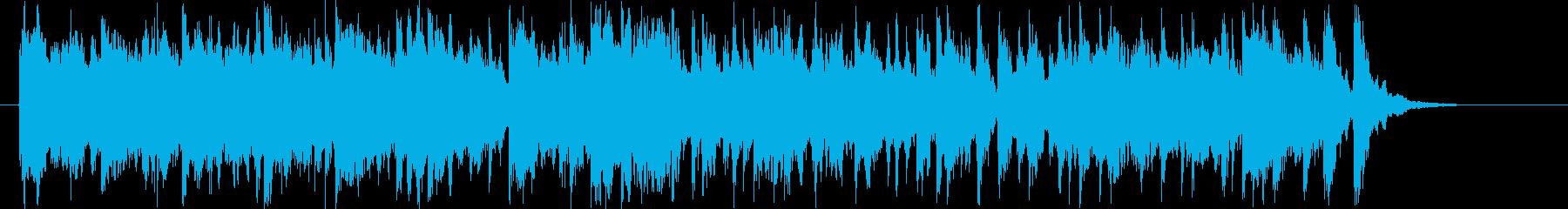 キラキラしたテンポいいシンセサイザーの曲の再生済みの波形