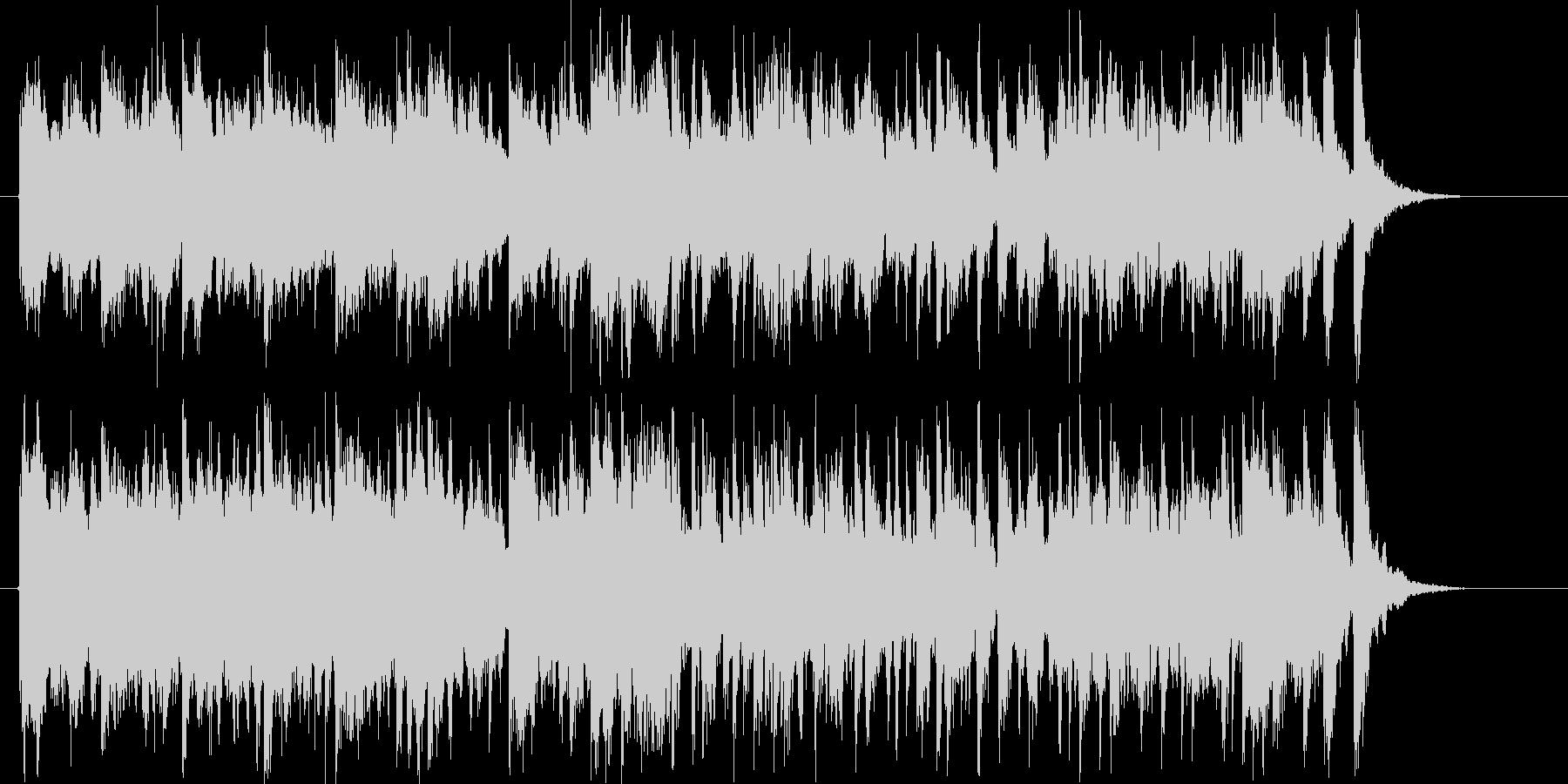 キラキラしたテンポいいシンセサイザーの曲の未再生の波形