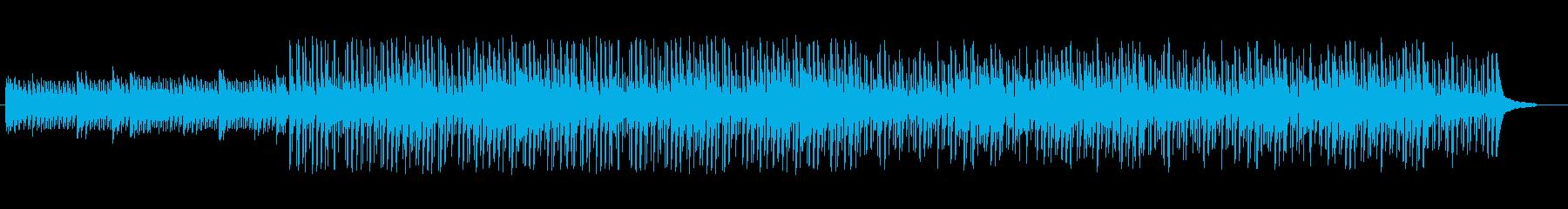 アップテンポで爽やかなピアノ音楽の再生済みの波形
