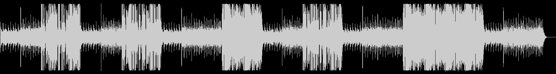 高音のキラキラした変則のチャイムの曲の未再生の波形