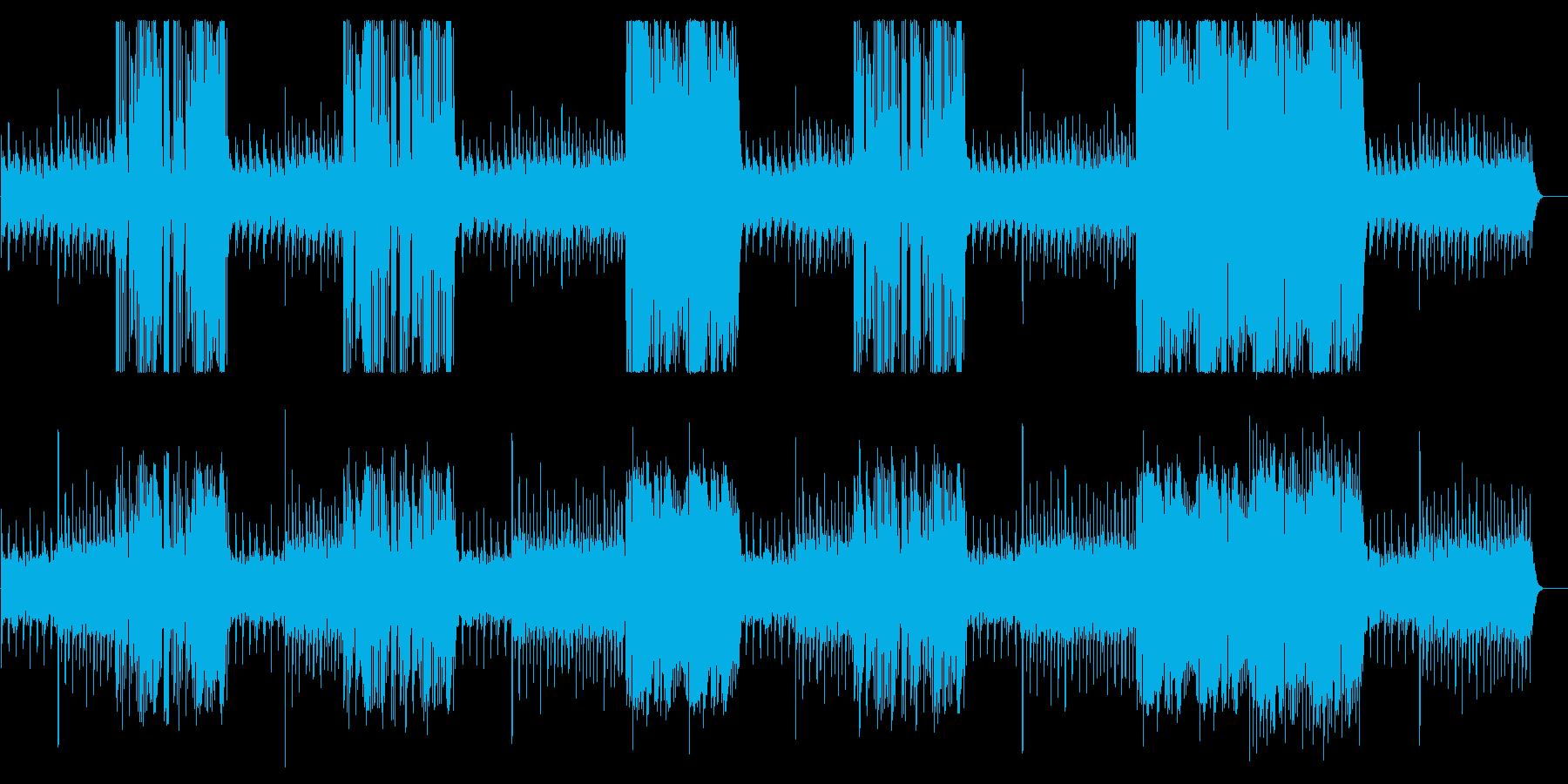 高音のキラキラした変則のチャイムの曲の再生済みの波形