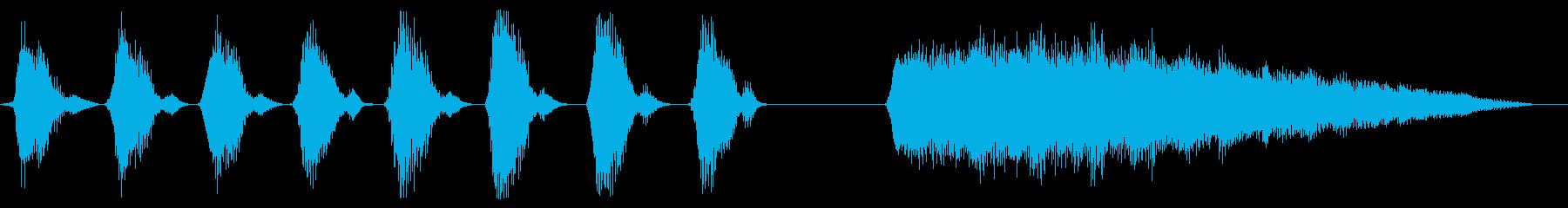 楽しげな鍵盤ハーモニカのジングルの再生済みの波形