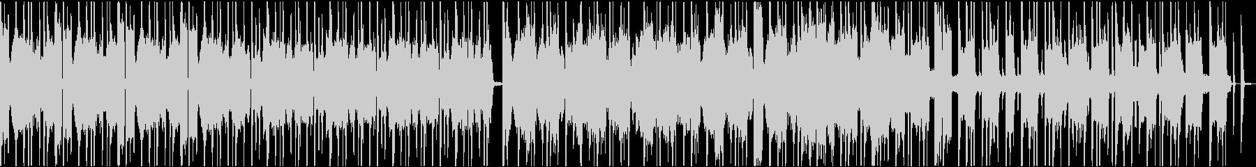 真面目なイメージの短い尺のループ楽曲の未再生の波形