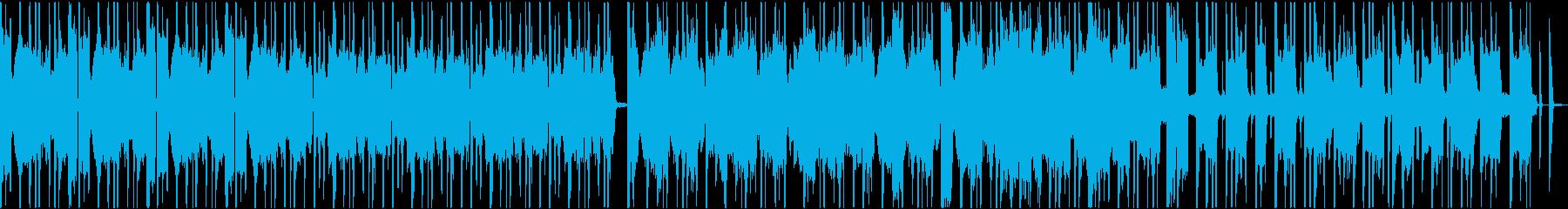 真面目なイメージの短い尺のループ楽曲の再生済みの波形