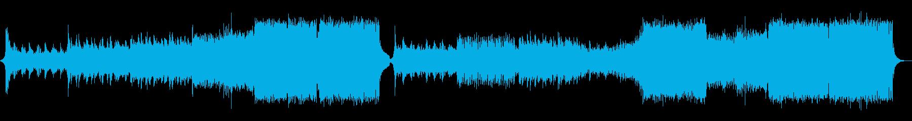 爽やかなEDMの再生済みの波形