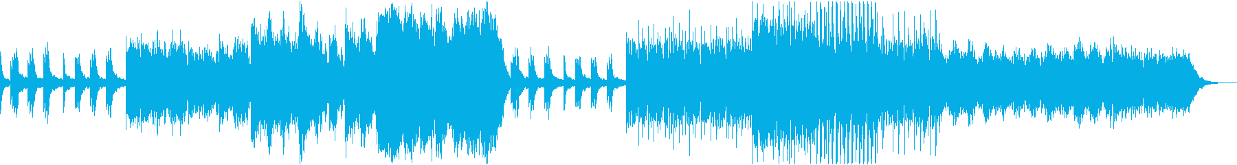 『回想』想い出蘇る鐘の音、電子系ポップスの再生済みの波形