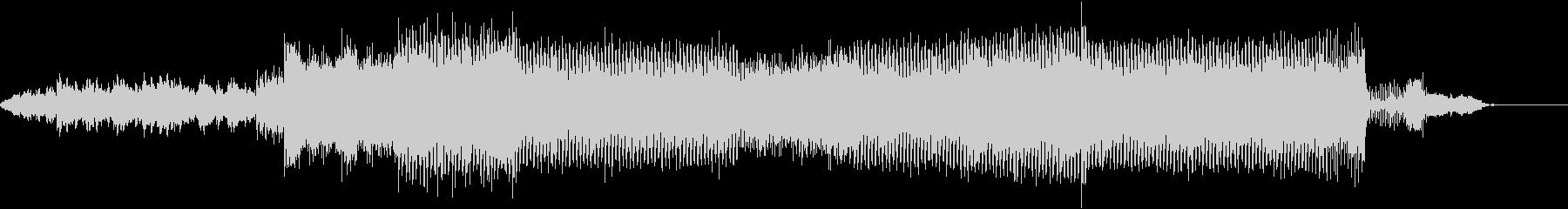 シーケンスフレーズ満載のデジタルビートの未再生の波形