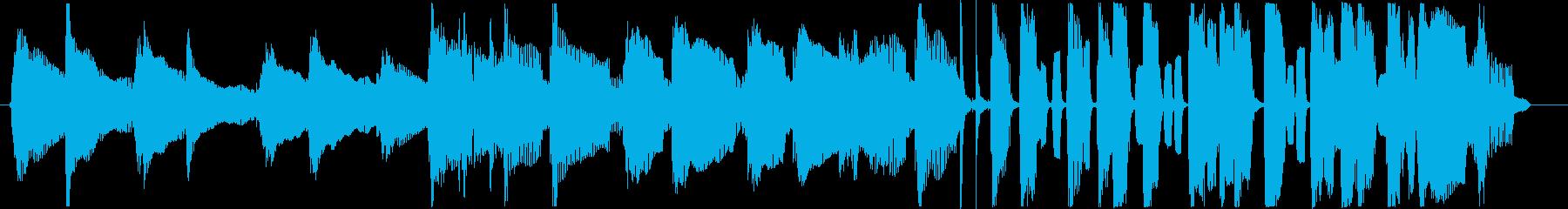 アコギとハーモニカの可愛らしいBGMの再生済みの波形