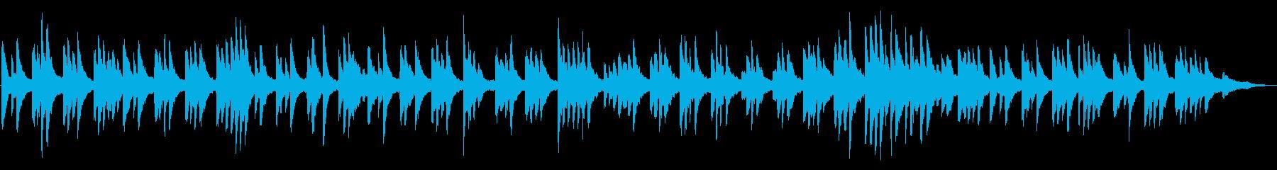 風景動画・ヨガ ヒーリング系ピアノソロの再生済みの波形