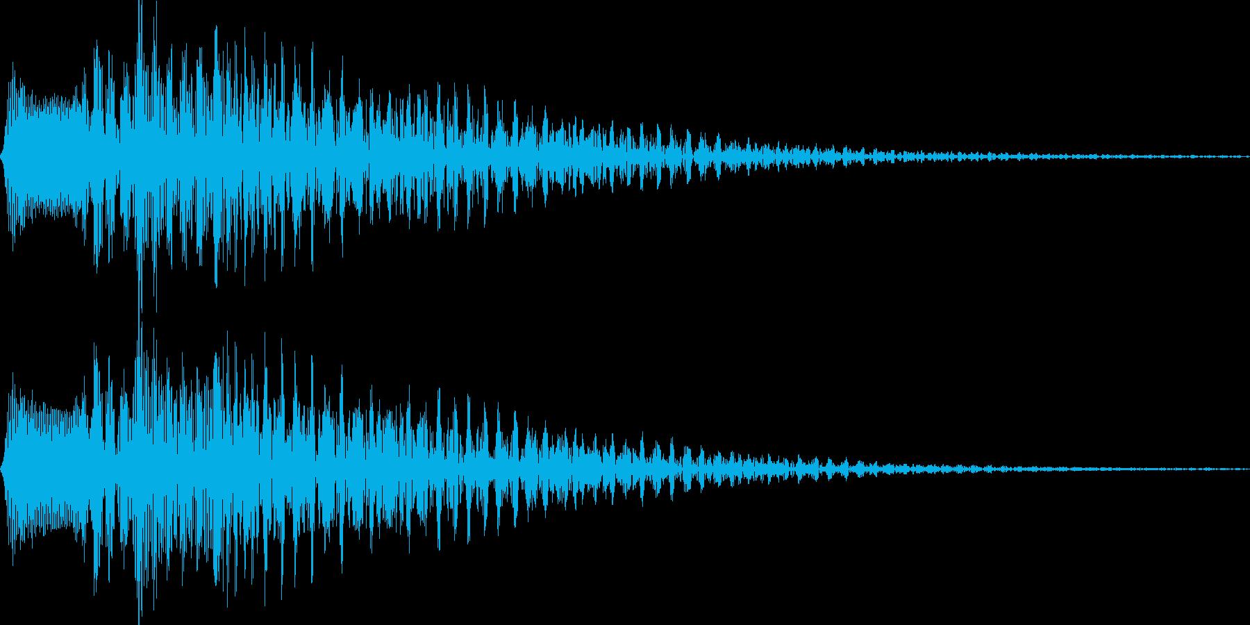 チロリン(アプリの決定音)の再生済みの波形