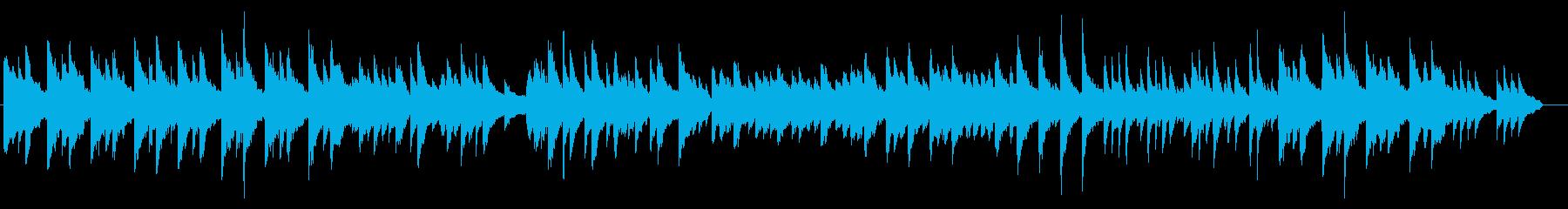 暖かな印象のある3拍子ピアノ曲の再生済みの波形