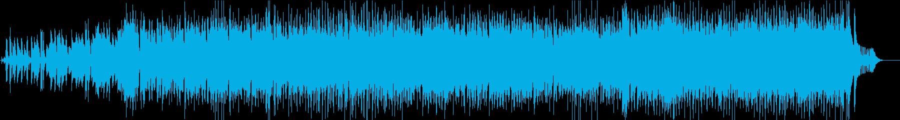 遊び心のある活気のあるジャズスウィングの再生済みの波形