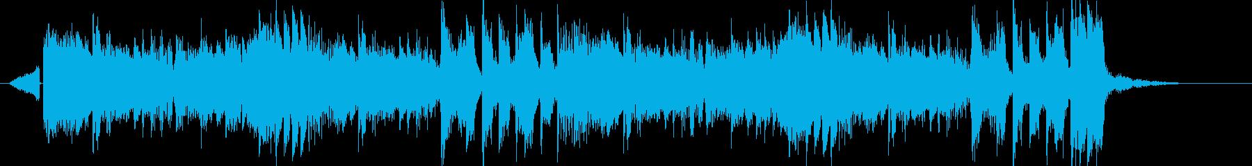 シンセベース電子系リズムのEDMジングルの再生済みの波形
