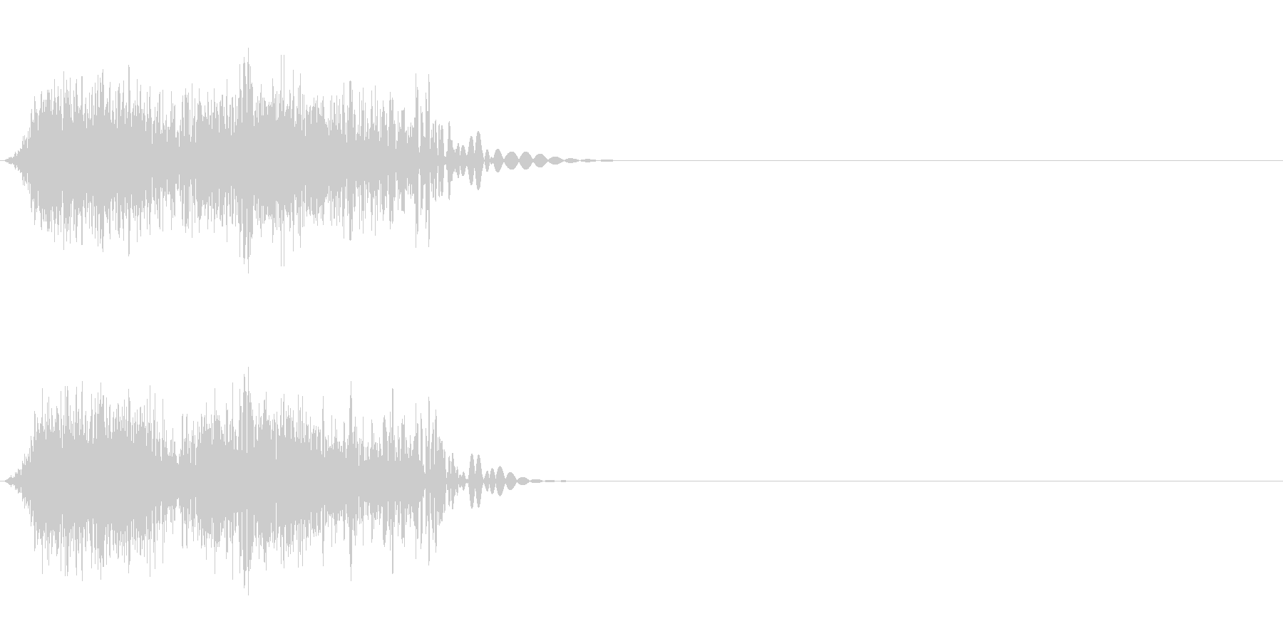 DJスクラッチ07_ワンショット02の未再生の波形