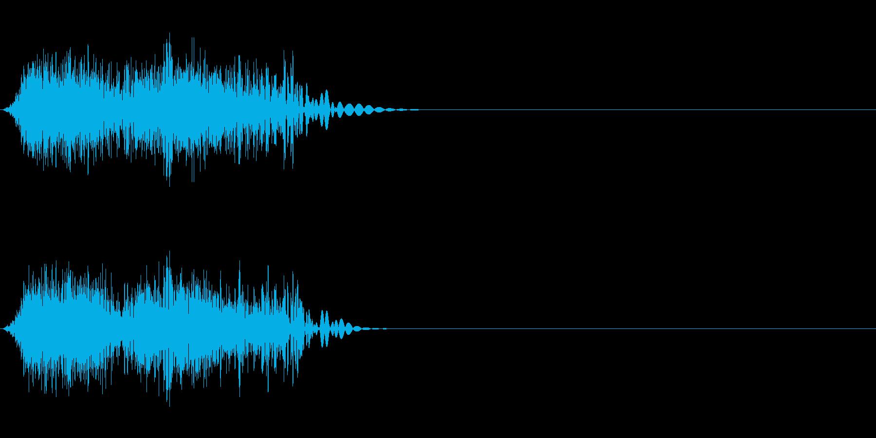 DJスクラッチ07_ワンショット02の再生済みの波形