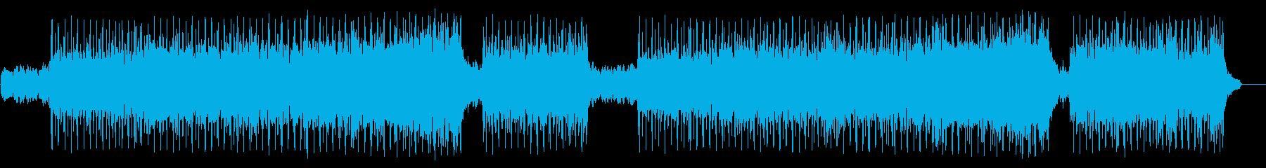 軽快なフュージョン(フルサイズ)の再生済みの波形