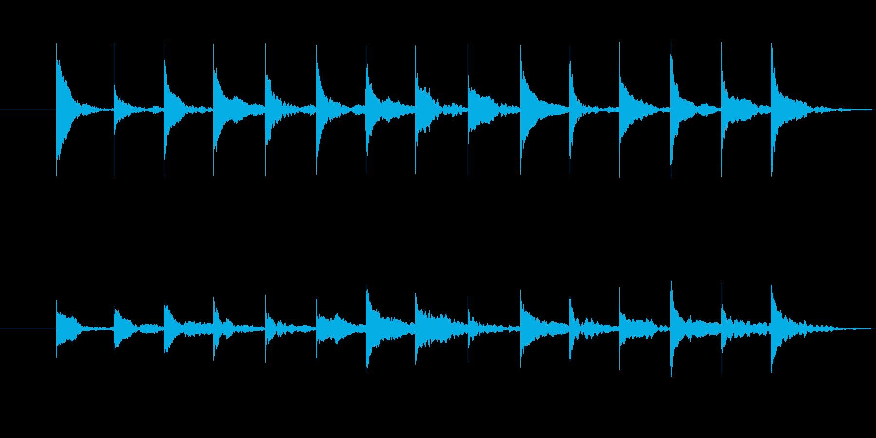 木琴の音 トリッキー ちょっとびっくりの再生済みの波形