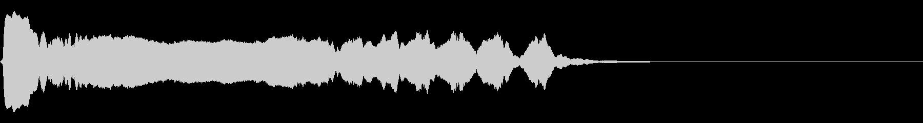 [生録音]和縦笛-ワンショット素材02の未再生の波形