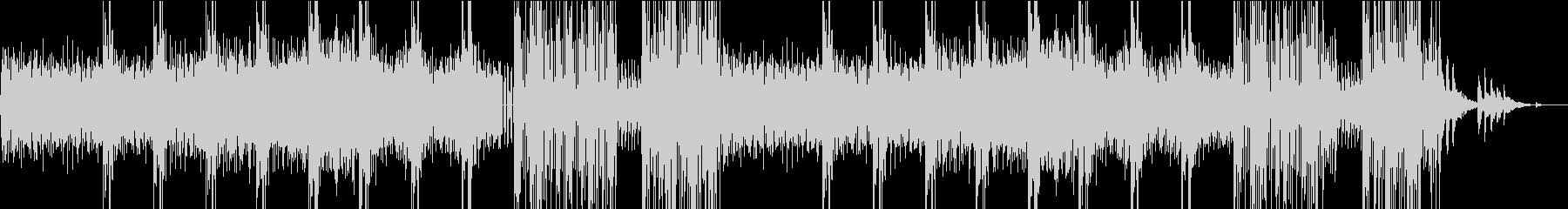 不気味な雰囲気が特徴のシンセサイザー曲の未再生の波形