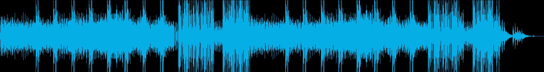 不気味な雰囲気が特徴のシンセサイザー曲の再生済みの波形