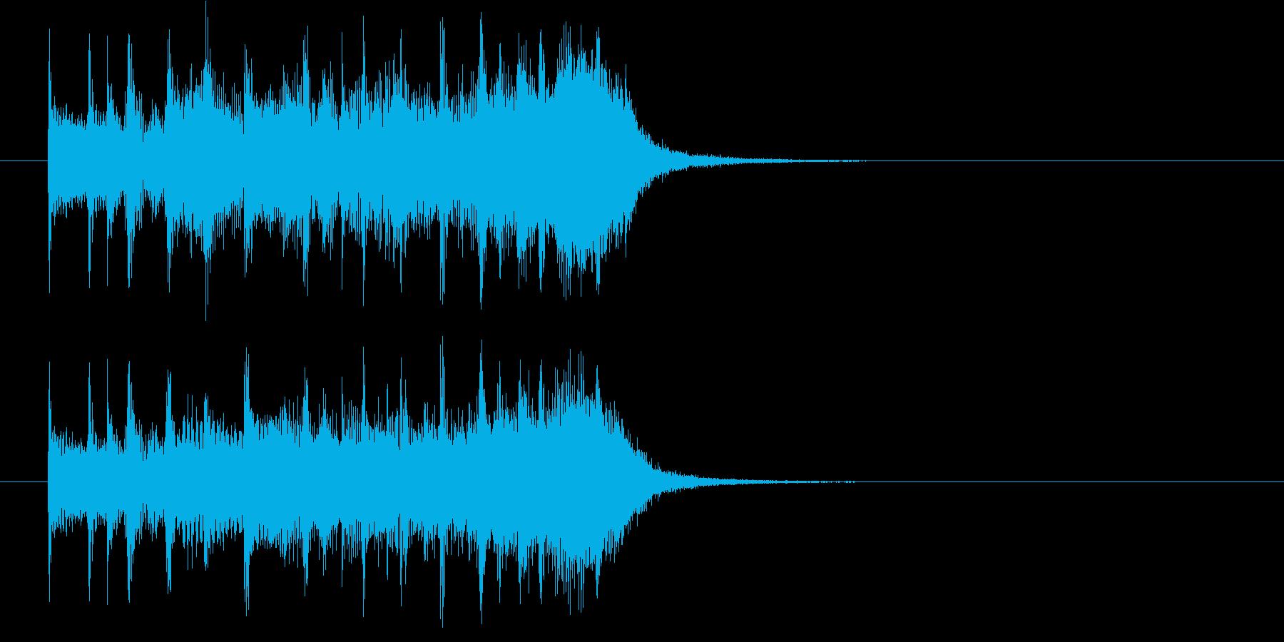 軽快で明るいポップジングルの再生済みの波形