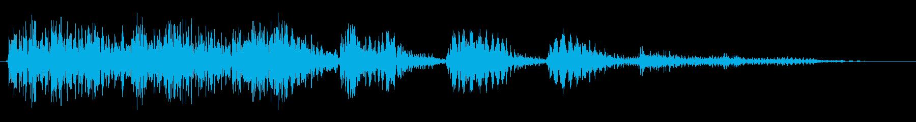 インパクトがあり伸びやかな効果音の再生済みの波形